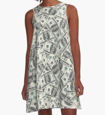 Money Money Novelty Dollars A-Line Dress