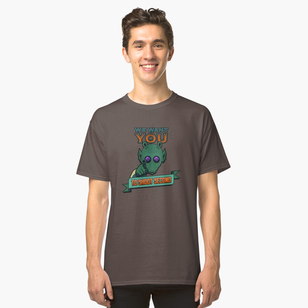 Greedo Wants You To Shoot Second Classic T-Shirt Front