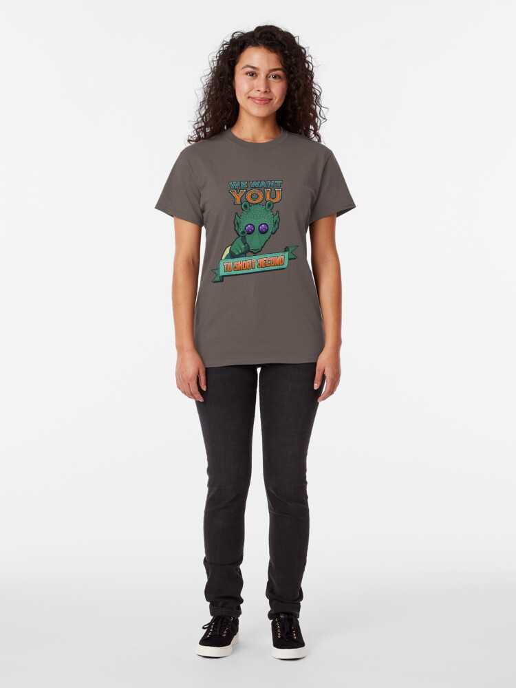 Alternate view of Greedo Wants You To Shoot Second Classic T-Shirt