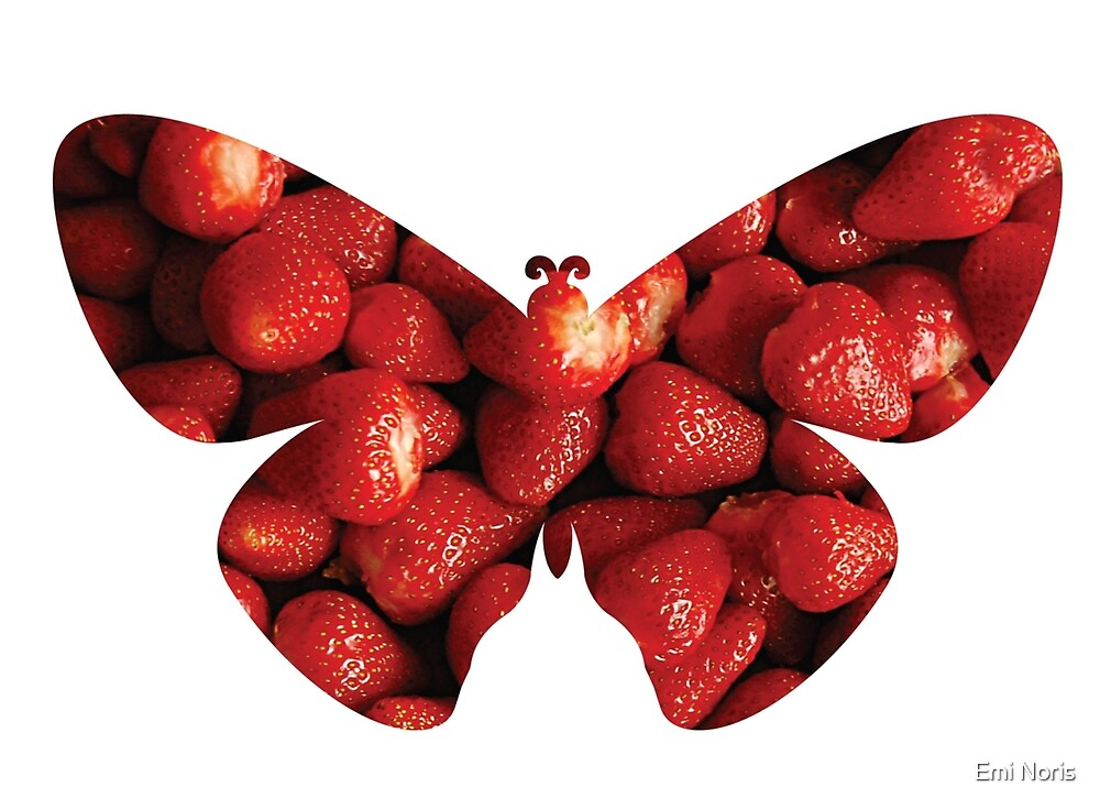 Flying strawberries by Emi Noris