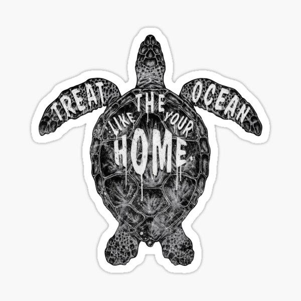 OCEAN OMEGA (MONOCHROME) Sticker