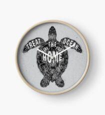 OCEAN OMEGA (MONOCHROME) Clock