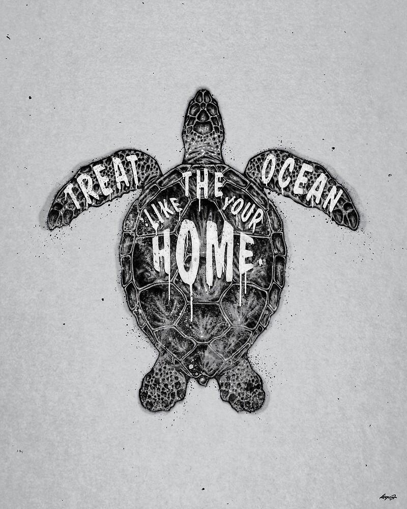 OCEAN OMEGA (MONOCHROME) by KinguOmega