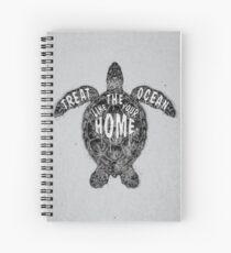OCEAN OMEGA (MONOCHROME) Spiral Notebook