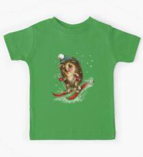 Hedgehog skier Kids Clothes