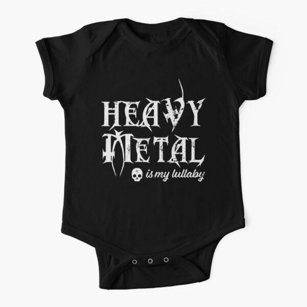 Hard Rock Heavy Metal diable cornes doigts Music Rocker Baby Grow Douche Cadeau