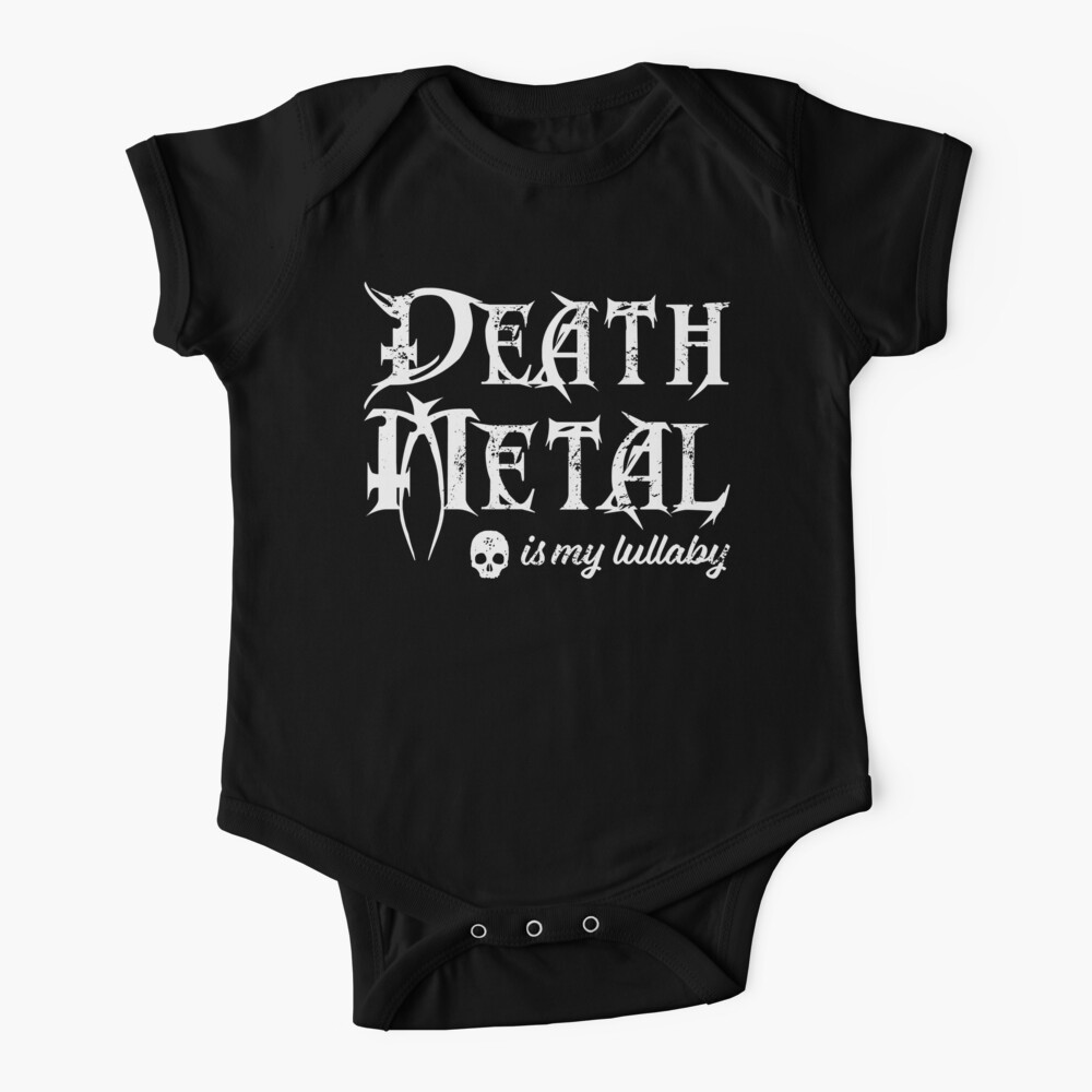 Death Metal is My Lullaby Baby Bodysuit Baby One-Piece