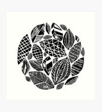 Geometrical nature print / little geometric leaves Art Print