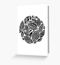 Geometrical nature print / little geometric leaves Greeting Card
