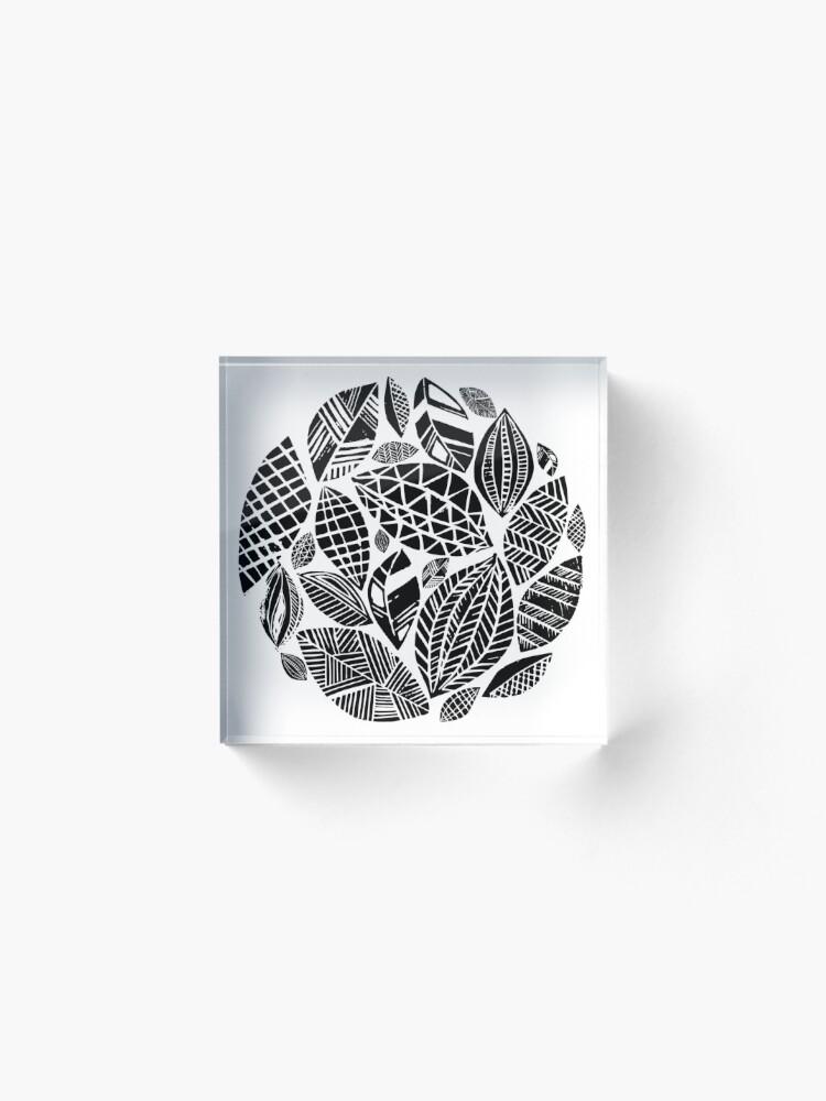 Alternate view of Geometrical nature print / little geometric leaves Acrylic Block