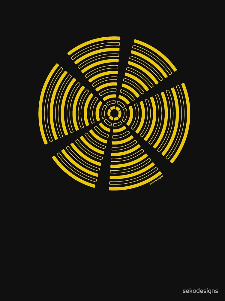 Mandala 32 Yellow Fever  by sekodesigns