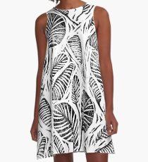 Dschungel - tropische Blätter A-Linien Kleid