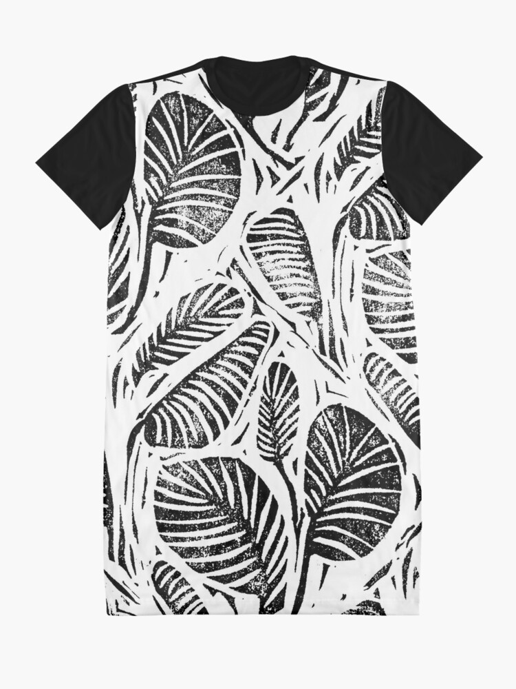 Alternate view of Jungle - Tropical leaves Graphic T-Shirt Dress