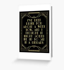 Sobering up in a library Greeting Card