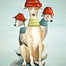 Devo Dogs by Sarah  Mac Illustration