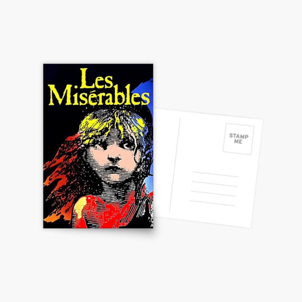 LES MISERABLES: impresión publicitaria coloreada restaurada Postal