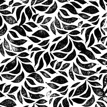 A sea of leaves - Nature inspired linocut print by emporiumjulium