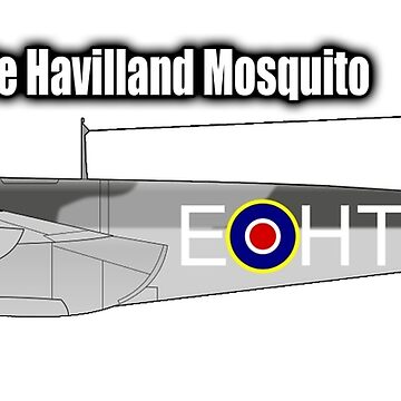 MOSQUITO, WWII, Combat Aircraft, De Havilland Mosquito, RAF, Fighter, Bomber, Wold War II, British, multi-role by TOMSREDBUBBLE