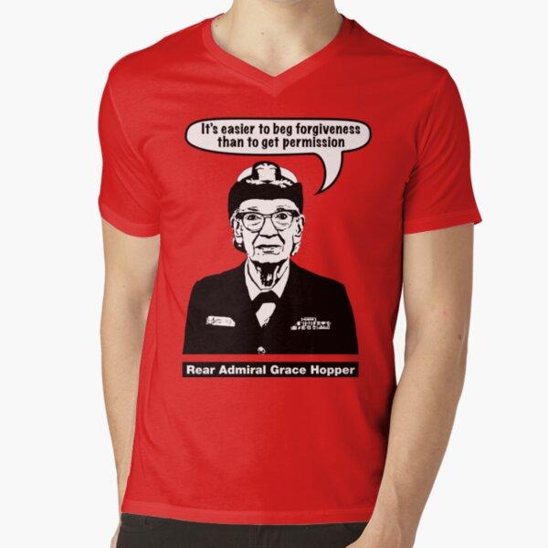 Grace Hopper V-Neck T-Shirt