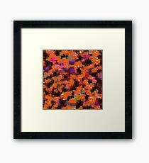 Orange texture Framed Print