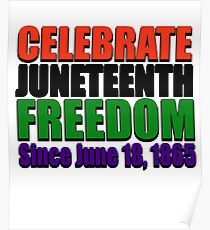 Celebrate Juneteenth Freedom Day Pan African Flag Colors  Black History Poster