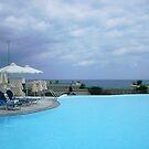 Poolside in Crete by OHenrys