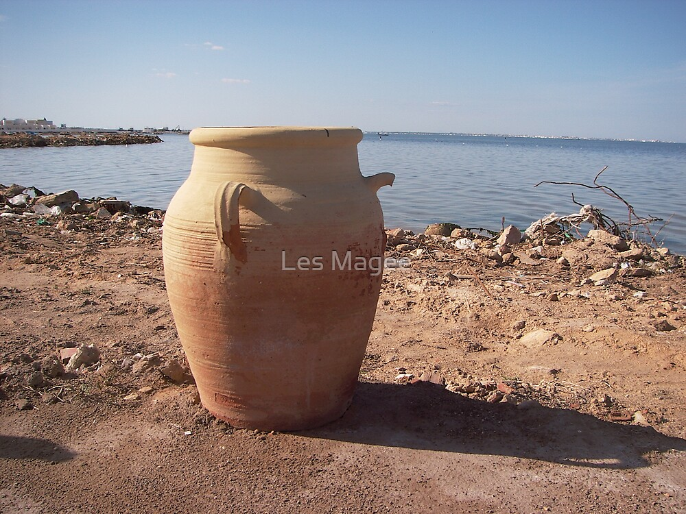 treasure in clay vessels by Les Magee