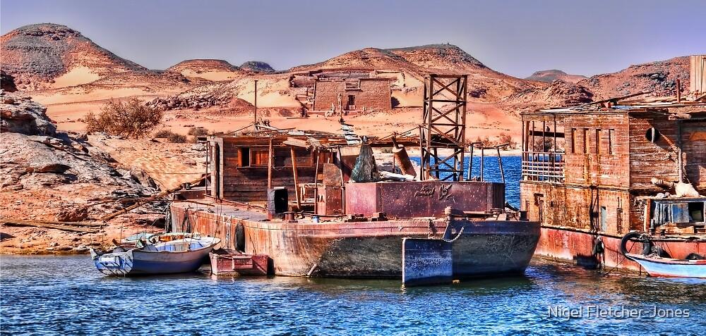 Lake Nasser Ancient and Modern II by Nigel Fletcher-Jones