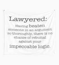 Lawyered definition Wall Tapestry
