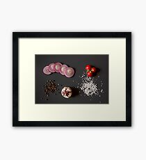 Raw vegetables for healthily cooking Framed Print