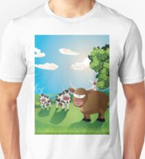 Cows and Bull on Lawn T-Shirt