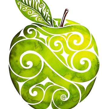 Swirly Apple by CarolinaMatthes