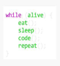 Code Photographic Print