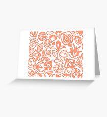 Orange garden flowers Greeting Card