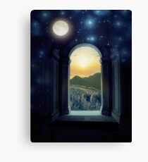 Night and Day, Moon and Sun Canvas Print