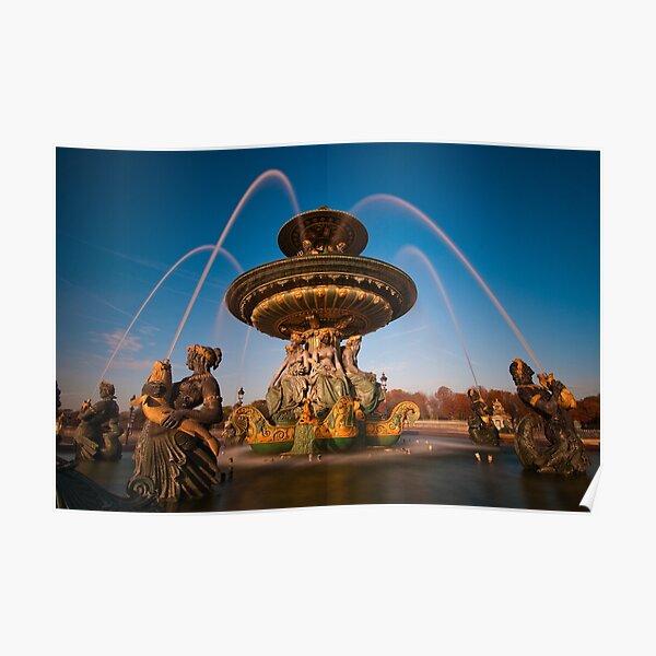 Fountain on the Place de la Concorde, Paris Poster