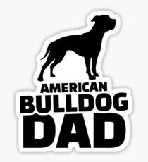 American Bulldog Dad Sticker