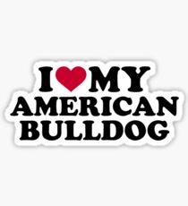 I love my American Bulldog Sticker
