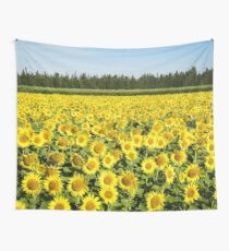 Yellow sunflower field Wall Tapestry