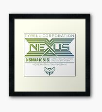 Nexus Tyrell corporation Framed Print