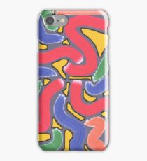 1804 - Snake Movement In Colors iPhone Case/Skin