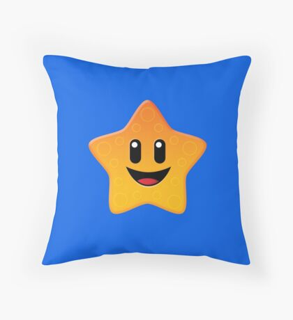 Bubble Heroes - Starfish Throw Pillow