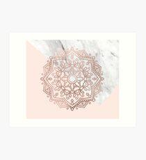 Vogue series - rose gold mandala Art Print