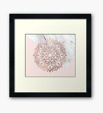 Vogue series - rose gold mandala Framed Print