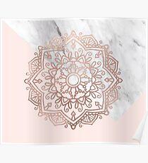 Vogue series - rose gold mandala Poster