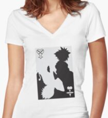 Light and Darkness KH Women's Fitted V-Neck T-Shirt