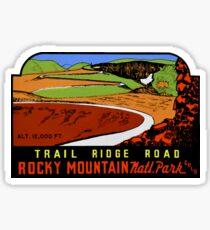 Trail Ridge Road RMNP Vintage Travel Decal Sticker