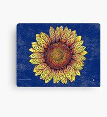 Swirly Sunflower Canvas Print