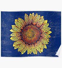 Swirly Sunflower Poster