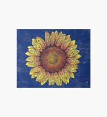 Swirly Sunflower Art Board